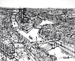 Above Quai De La Tournelle by Ingo -  sized 60x48 inches. Available from Whitewall Galleries
